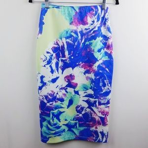 Apt. 9 Watercolor Floral Skirt Size XS